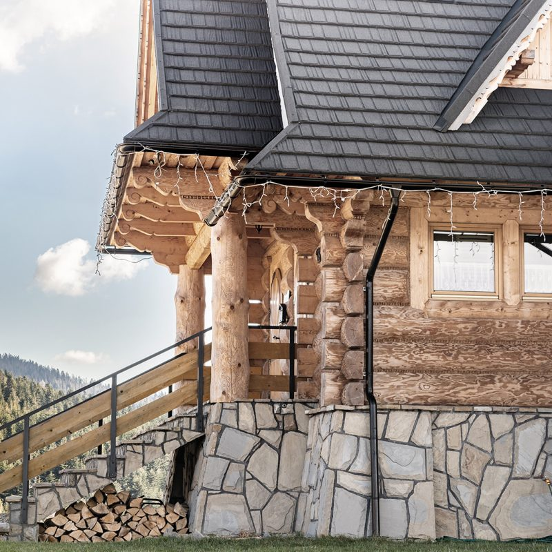 Wierchowa Chata Kościelisko drewniany dom z widokiem na góry 112