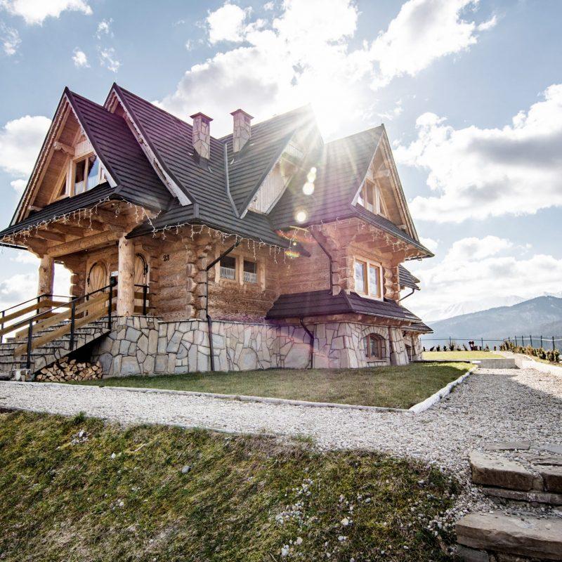 Wierchowa Chata Kościelisko dom drewniany z widokiem na Tatry 91